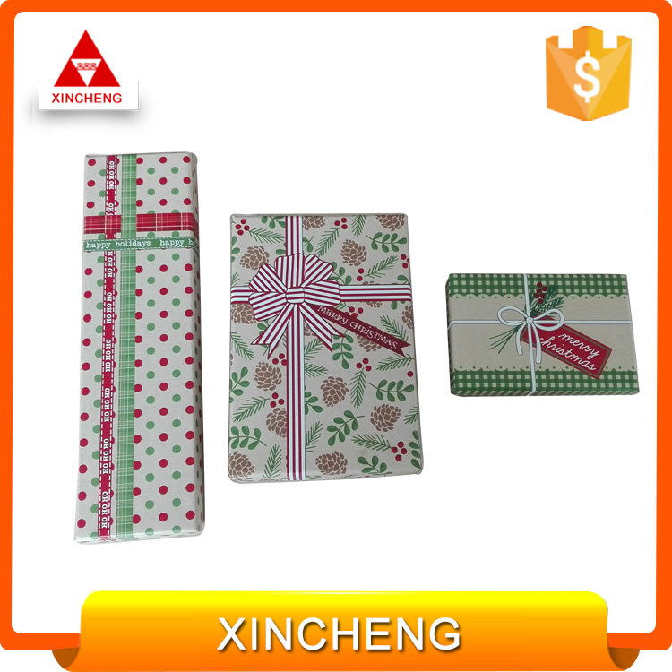 Wholesale custom cheap beautiful christmas gift boxes stationary boxes