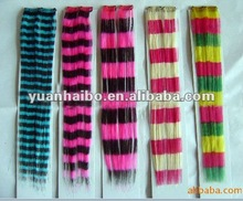2012 hot sale, wholesale price, mullti colorful Synthetic clips on hair extension