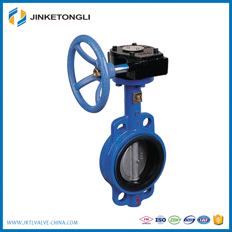 Manual operated casting aluminum body butterfly valve with handwheels