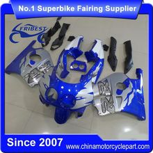 FFKHD028 Motorcycle Fairing Kit For CBR250RR MC22 1990-1999 Blue Silver