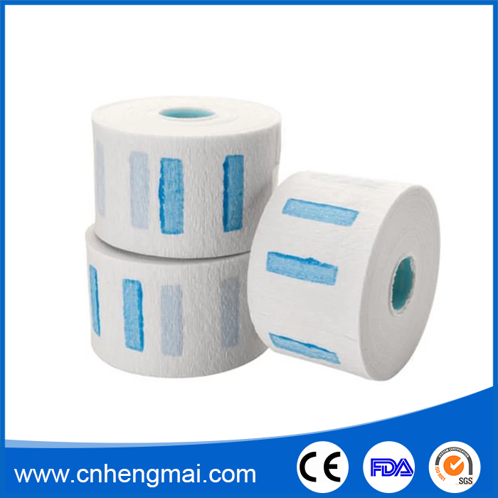 China Supplier Self Adhesive Waterproof Crepe Neck Paper Roll For Barber Manufacturer
