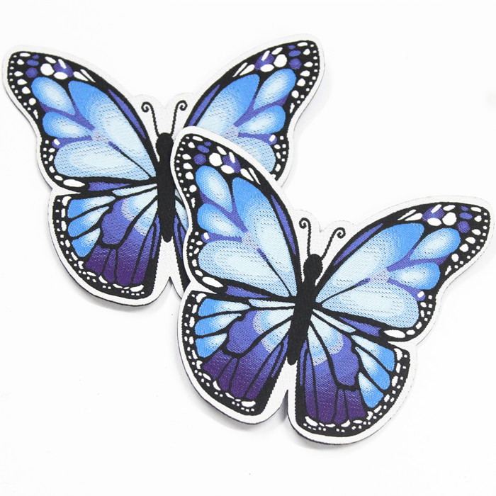 laser cut adhesive heat butterfly jeans label patch