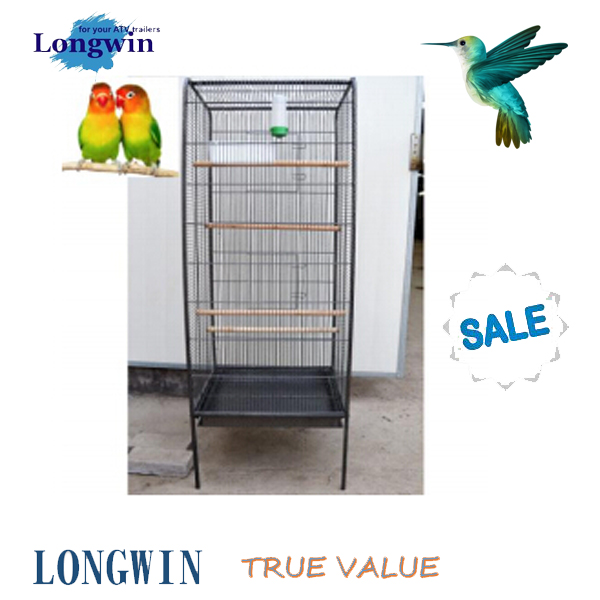 Large easy to assemble metel wire eco-friendly feature bird cage pet product hot selling cages