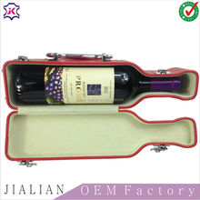 high quality single pu bottle leather wine carrier/ wine bottle holder