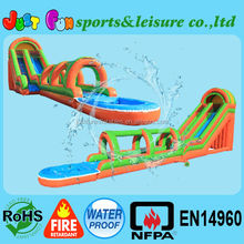 32ft tall giant water slide with slip slide, inflatable water slide