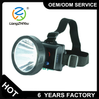 LZY hot selling led waterproof headlamp flashlight with 1 year factory warranty
