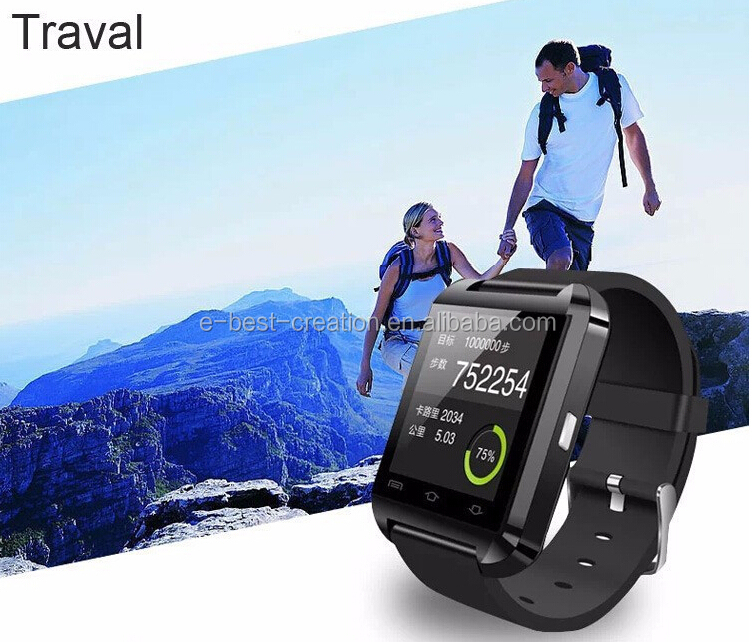 2015 android Smart Watch U8 with Exercise and health Tracking Features Bluetooth Smart Bracelet