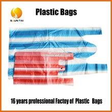 100% virgin material plastic handle bag manufacturer