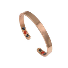 Adjustable Plain Magnetic Copper bangle with far infrared and germanium elements