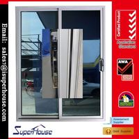 China factory thermal break tempered double glazed automatic sliding door kit