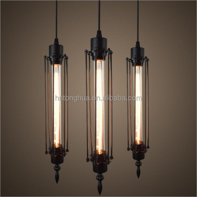 Simple Black Bird Cage Design Ceiling Pendant Lamps for Decoration