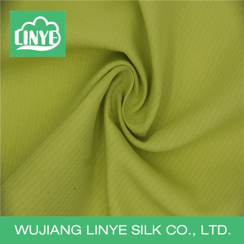 yarn dyed jacquard polyester pongee fabric, down proof lining fabric, awning fabric