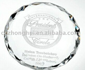 Fashion round crystal paperweight