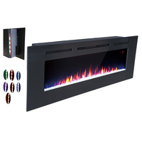 60 Inch LED wall mount home decor electric fireplace
