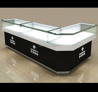 bespoke corner glass display cabinet jewelry watch mobile phone shop counter design
