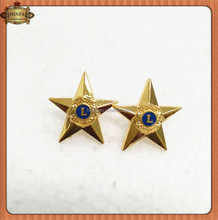 Small Five Star Shape Metal Lapel Pin