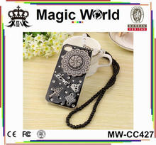 JEWELED NEW DESIGN NECKLACE BLING CELL PHONE CASE FOR IPHONE 5S
