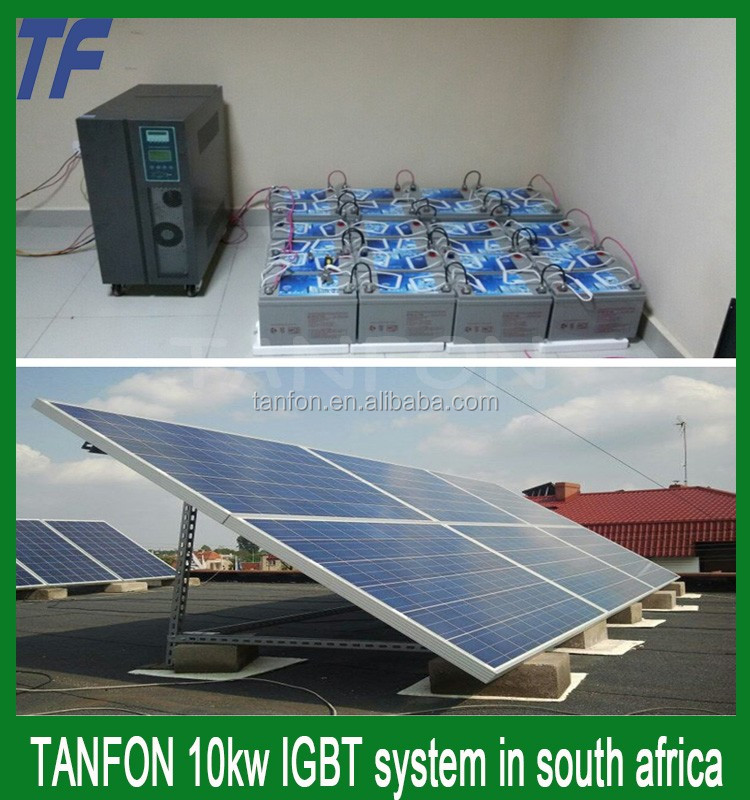 solar power system on/off-grid 10KW generate 220V~240VAC for home