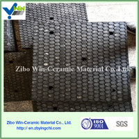 Supply high quality wear impact plain ceramic rubber plate