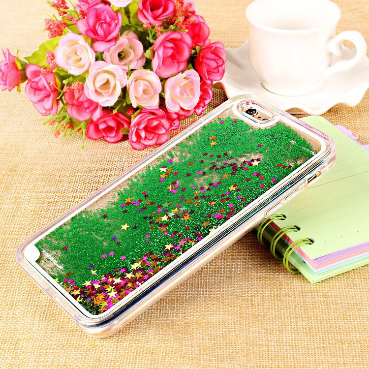 Fashion TPU Shimmering Liquid Glitter Phone Case For iphone 6
