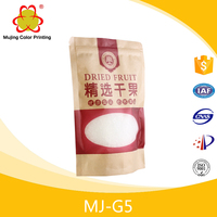 Three Side Seal Food Brown Paper Bag With Tansparent Window