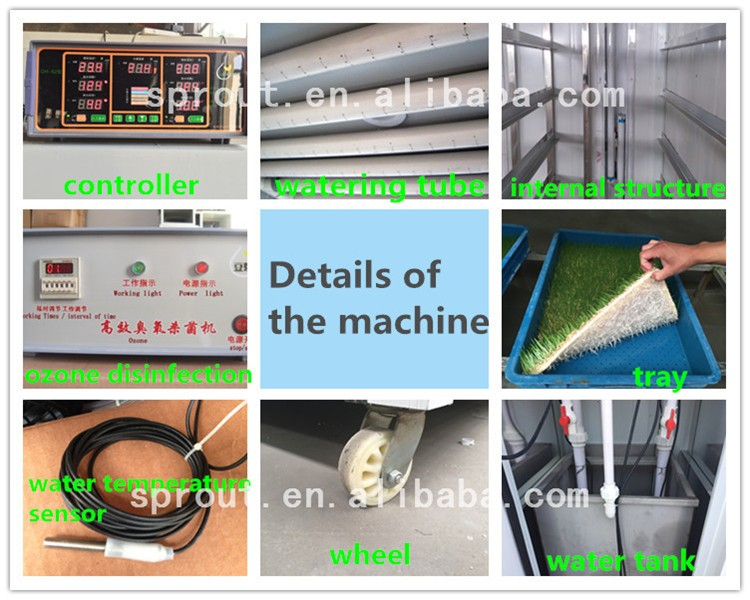 hydroponics fodder /Animal Feed Making Machine