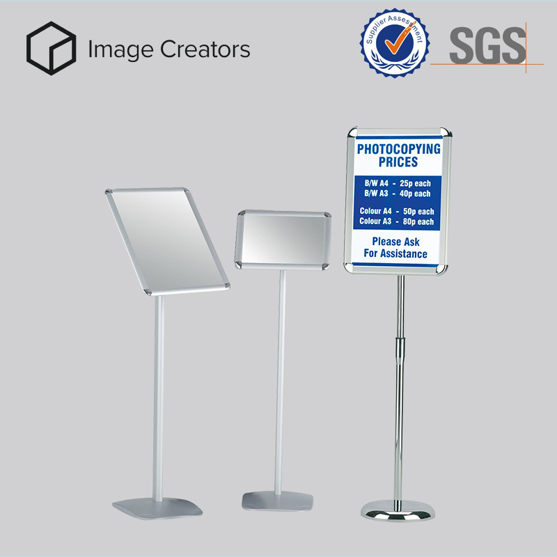 Waterproof portable advertising aluminum snap display frame