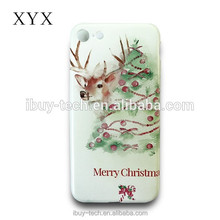 flirty Latest 2017 PC material mobile back cover for htc x9 with customzied christmas designs