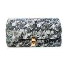 upscale colorful fabric printing ladies evening bag