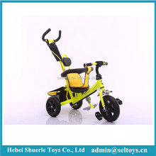 2 in 1 Children tricycle push pedal car with 3 wheels