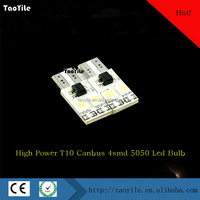 Reasonable price factory directly Error Free T10 5050 4SMD auto led lighting Canbus LED Car bulb light