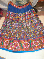 vintage mirror work skirt from katch tribes