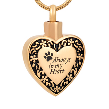 Unique Funeral keepsake urn pendant paw print wholesale cremation jewelry