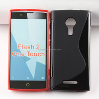 S line TPU Case for ALCATEL One Touch Flash 2 , Back Cover case for ALCATEL One Touch Flash 2