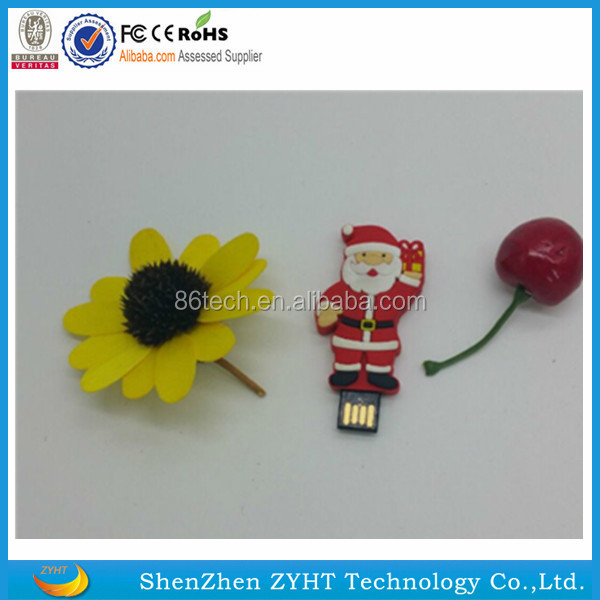 2016 New Christmas Gift design 1GB-64GB 3in1 snowman Santa Claus USB flash drive Xmas tree pen drive 64 GB USB 3.0 Flash Drive