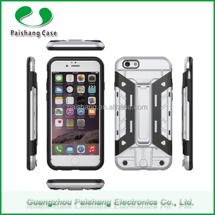 Colorful heavy duty free sample card holder stand function anti-friction custom cell phone case for IPhone 6plus