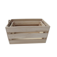 Shabby chic vintage natural wood crate for fruit
