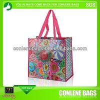6 bottle laminated non woven wine tote bag