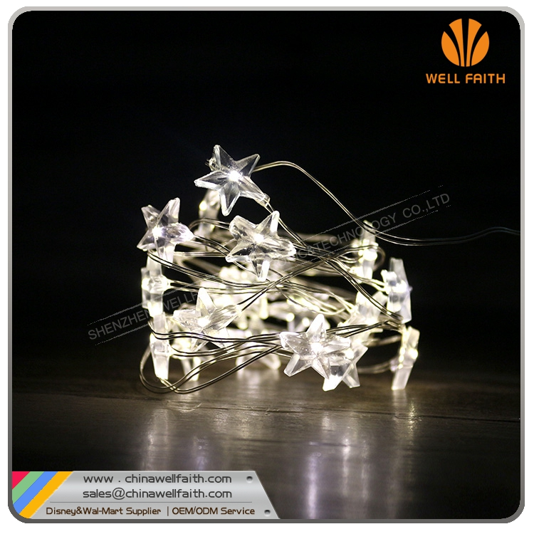 Battery Operated Star Shape Beads LED String Light