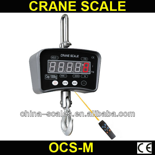 1000 kg selected series LED display OCS-M electronic handy scale