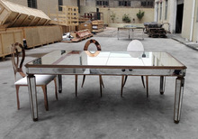 10 person Mirrored Big rectangle Dining Table for Event Rent