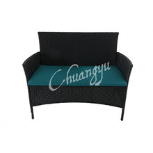 Top Sale leisure style wicker chairs set of rattan chairs with cushion of 2 seater wicker chair