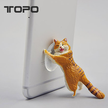 2018 explosions cat phone suction silicone seat lazy mobile phone holder
