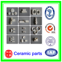 High pure and good wear resistance ceramic alumina components/ customized High strength alumina ceramic parts