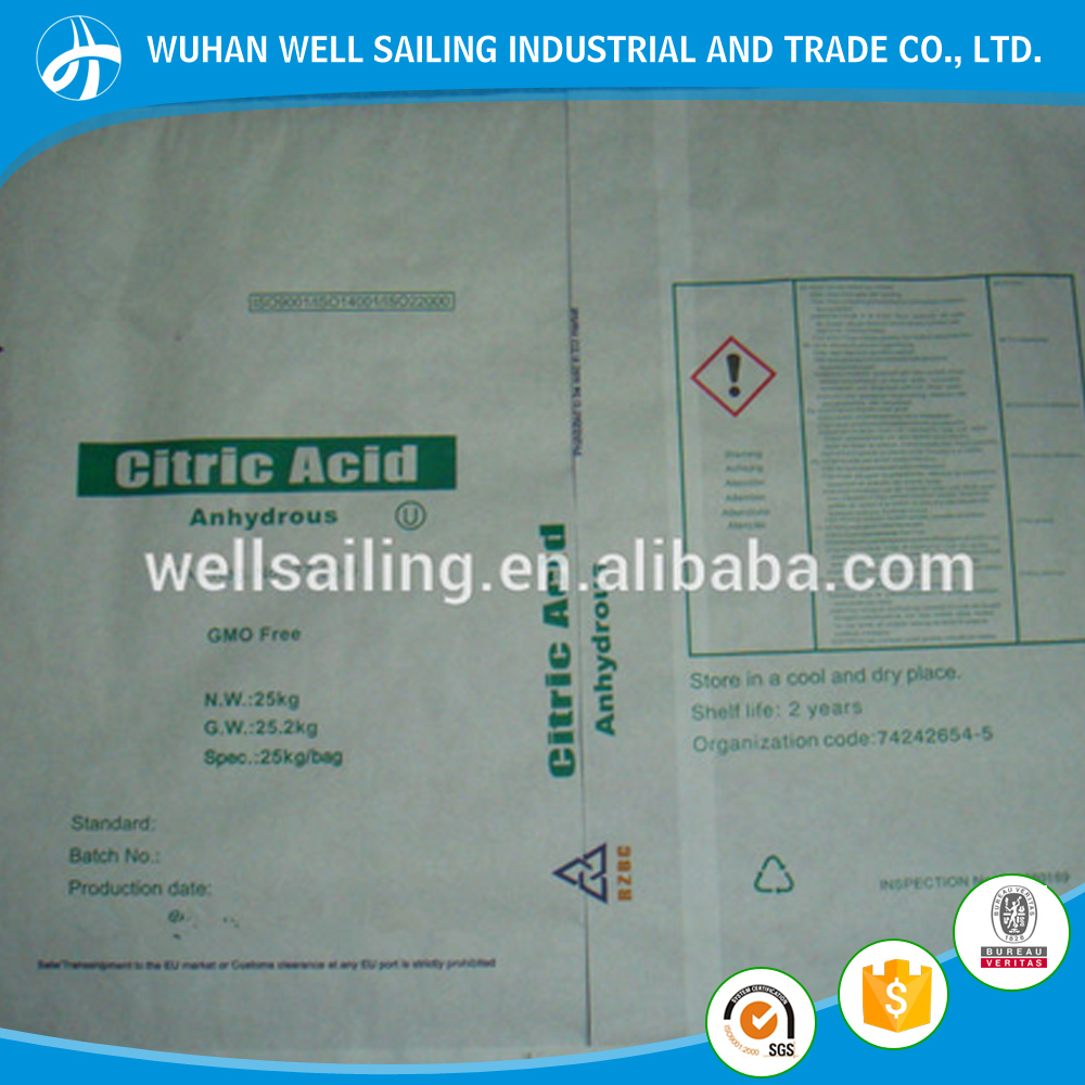 Citric Acid Anhydrous / Food Additives / BP,30-100 mesh