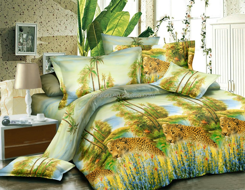 polyester faric Indonesia cheap 3D design microfiber brushed polyester fabric disperse printed