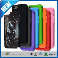 C&T Colorful Hybrid TPU PC 2 in 1 Hard Case Cover for iPhone 6 (5.5 inch)