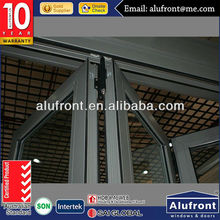 windproof thermal break folding door glass inserts blinds