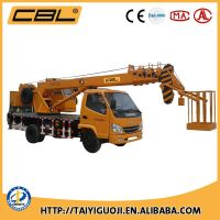 7ton truck mounted crane with lifting basket torque
