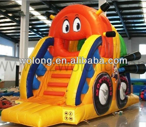 small indoor inflatable slide, bouncy castle with slide